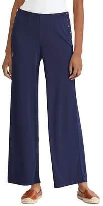 Ralph Lauren Stretch-Jersey Wide-Leg Pants