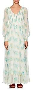 Zimmermann Women's Whitewave Floral Silk Maxi Dress - Lt. Blue