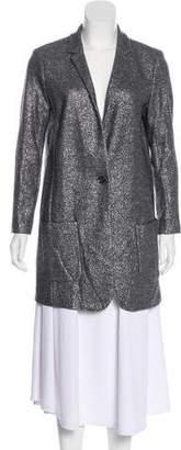 Magaschoni Metallic-Accented Wool Coat