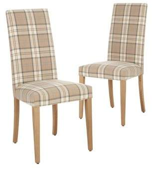 Marks and Spencer Set of 2 Denford Checked Dining Chair