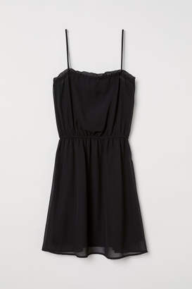 H&M Sleeveless Chiffon Dress - Black