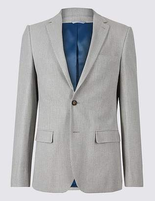 Marks and Spencer Slim Fit Textured Jacket