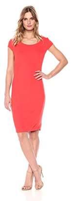 Armani Exchange A|X Women's Scoop Neck Slim Work Dress