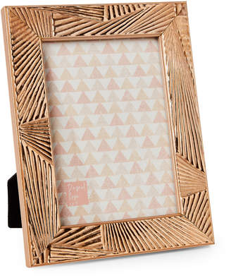 """Sheffield Home 5"""" x 7"""" Ribbed Rose Gold-Tone Picture Frame"""
