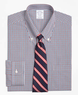 Brooks Brothers Regent Fitted Dress Shirt, Non-Iron Two-Color Gingham