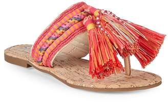 Sam Edelman Women's Bella Fabric Tassel Thong Sandals