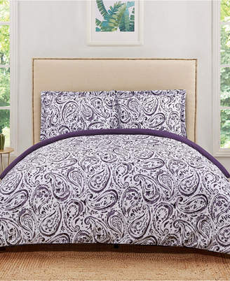Pem America Truly Soft Watercolor Paisley Twin Extra Long Duvet Set Bedding