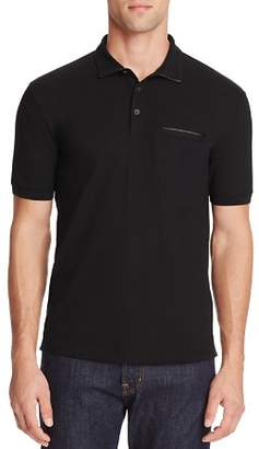 HUGO Dolorino Leather Trim Slim Fit Polo Shirt