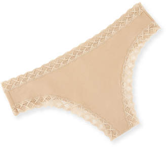 Natori Bliss Lace-Trim Cheeky Thong