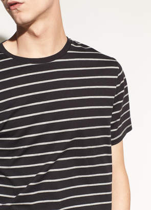Vince Heather Striped Short Sleeve