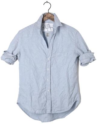 FRANK & EILEEN Womens Eileen Solid Linen Shirt $218 thestylecure.com