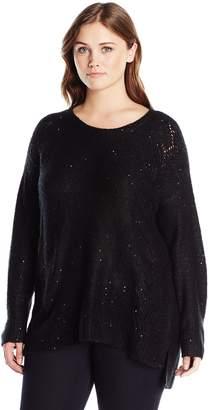 NYDJ Women's Plus Size Sequin Tunic Sweater