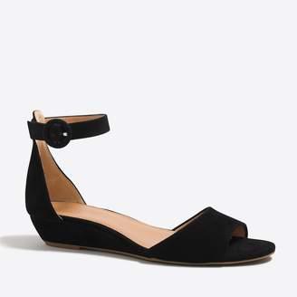 J.Crew Factory Suede demi-wedge sandals