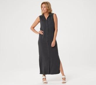Side Stitch Regular Tencera Button Front Sleeveless Maxi Dress