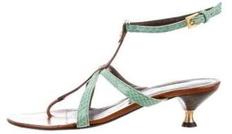 Valentino Embossed Leather Sandals