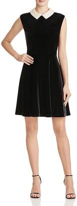 Betsey Johnson Pearl Collar Velvet Dress $160 thestylecure.com