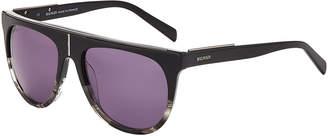 Balmain BL2105 Black & Grey Flat Top Sunglasses