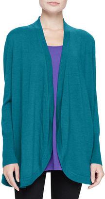 Eileen Fisher Merino Jersey Long Cardigan, Plus Size $208 thestylecure.com