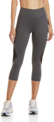 Reebok Reflection Mesh Insert Capri Leggings