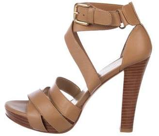 Stuart Weitzman Leather Ankle Strap Sandals