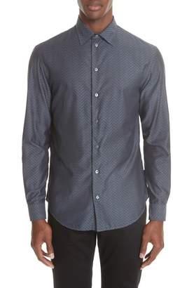 Emporio Armani Regular Fit Geometric Dress Shirt