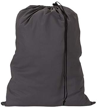 Household Essentials 140-1 Extra Large Natural Cotton Laundry Bag | Heavy Duty Hamper Liner | Charcoal