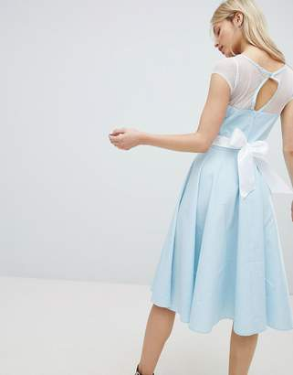 Hell Bunny 50's Prom Dress With Bow Detail