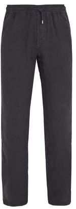 Altea Elasticated Waist Linen Trousers - Mens - Navy