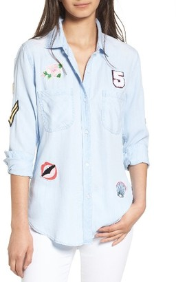Women's Rails Carter Patch Chambray Shirt $148 thestylecure.com