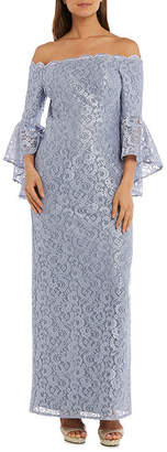 R & M Richards R&M Richards Long Lace Gown