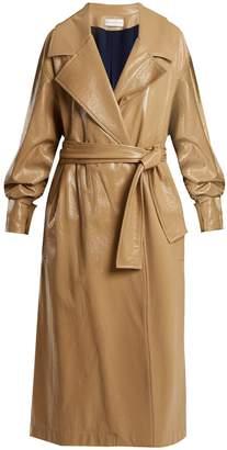 WANDA NYLON Oversized coated trench coat