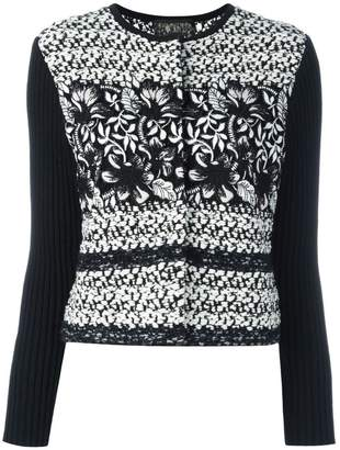 Giambattista Valli ribbed sleeve tweed jacket