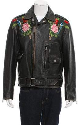 Gucci Angry Cat Leather Jacket
