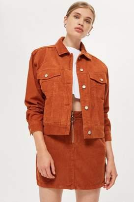 Topshop PETITE Corduroy Boxy Oversized Denim Jacket