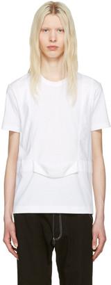 Comme des Garçons Shirt White Single Harness T-Shirt $270 thestylecure.com