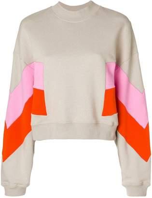 MSGM contrast print sweatshirt