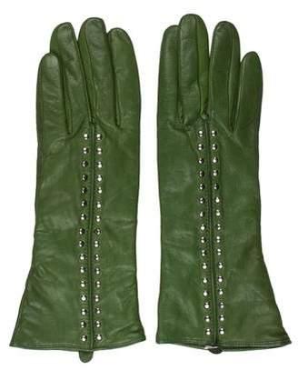 Michael Kors Leather Stud Embellished Gloves