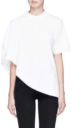 SIRLOIN 'Bukko' asymmetric convertible cape T-shirt
