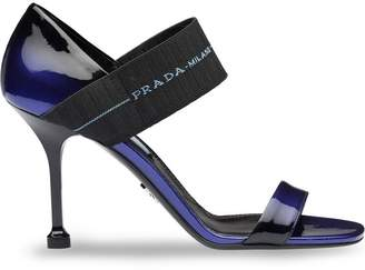 Prada Elasticated logo strap sandals
