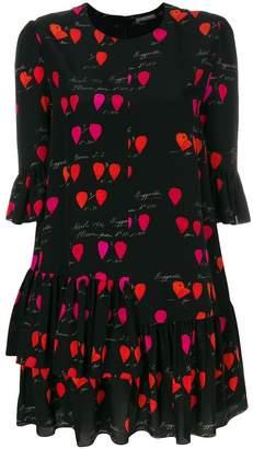 Alexander McQueen petal-print dress
