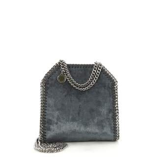 Stella McCartney Stella Mc Cartney Falabella Blue Velvet Handbags