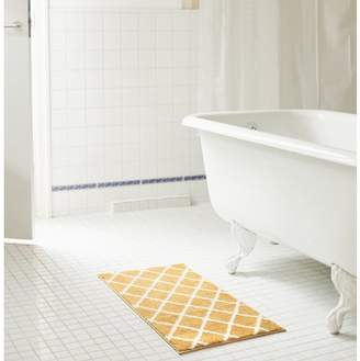 RT Designers Collection Chester Jacquard Microfiber 20 x 32 in. Bath Mat in Gold