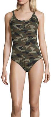 Arizona Round Neck Sleeveless Bodysuit-Juniors