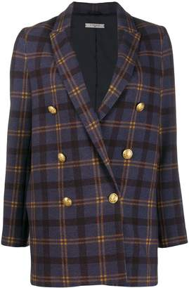 1901 Circolo double-breasted check jacket