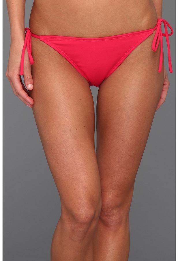 Susana Monaco Tie String Bikini Bottom (Hibiscus) - Apparel