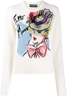 Dolce & Gabbana Fatto a Mano print sweater