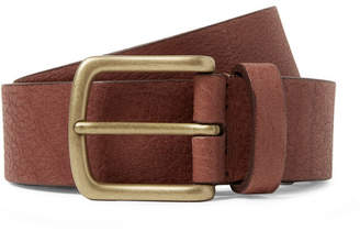 Andersons Anderson's 3cm Chocolate Full-Grain Leather Belt
