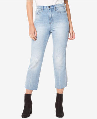 Buffalo David Bitton Cotton Frayed-Hem Cropped Jeans