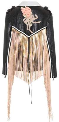 Gucci Fringed leather jacket