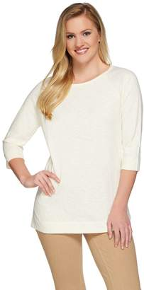 Isaac Mizrahi Live! TRUE DENIM Raglan Sleeve Knit Tunic